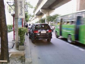 交通事故を目撃